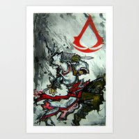 assassins creed Art Prints featuring Assassins Creed  by RISE Arts