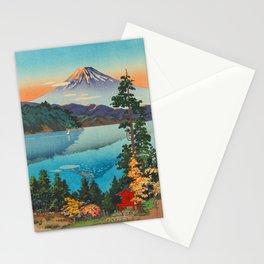 Tsuchiya Koitsu Vintage Japanese Woodblock Print Fall Autumn Mount Fuji Stationery Cards