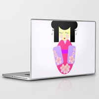 sakura Laptop & iPad Skins featuring Sakura by Sreetama Ray