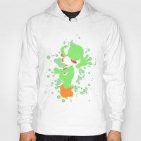 yoshi Hoodies featuring Yoshi by Emerald Bird