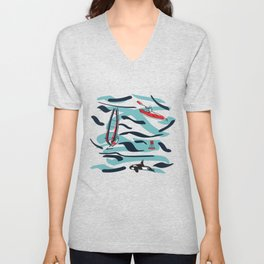 A Day on the Water Unisex V-Neck