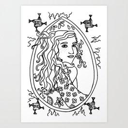 Brigid - Line Art  Art Print