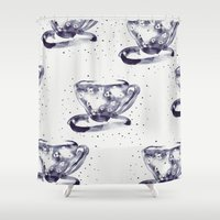 tea Shower Curtains featuring Tea by Georgiana Paraschiv