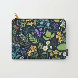 Pattern with flowers. Modern floral background. Carry-All Pouch