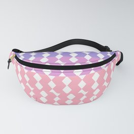 Geometrical abstract ombre pink lilac lavender pattern Fanny Pack