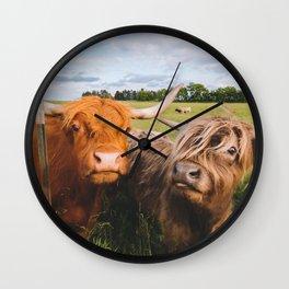Highland Cows - Blep Wall Clock