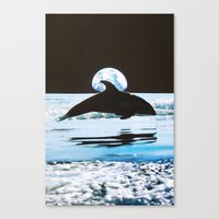 dolphin Canvas Prints featuring Dolphin by John Turck