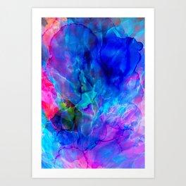 abstract sea waves cb Art Print
