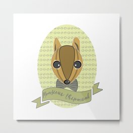 Monsieur Chipmunk Metal Print