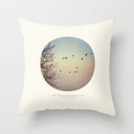 Caged Birds Throw Pillow