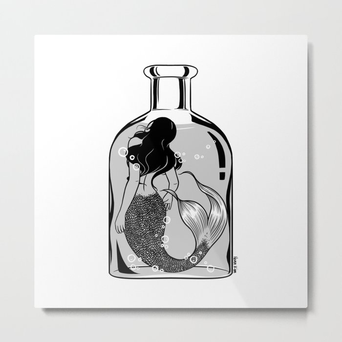 Wish I could be part of your world Metal Print
