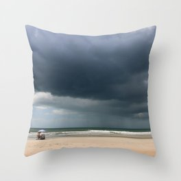 A Peaceful Day At The Seaside Throw Pillow