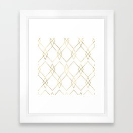 Gold Geometric Framed Art Print