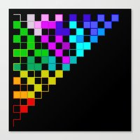 squares in a triangle Canvas Print