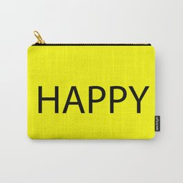 Happy Yellow Black Carry-All Pouch