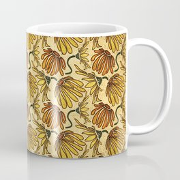 Retro 70's Golden Yellow Daisy Pattern  Coffee Mug