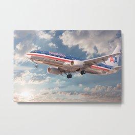 American Airlines Boeing 737 Metal Print