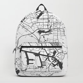 Amsterdam White on Gray Street Map Backpack
