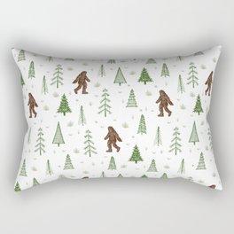 trees + yeti pattern in color Rectangular Pillow