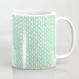 Hand Knit Mint Coffee Mug