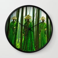 china Wall Clocks featuring China  by Saundra Myles
