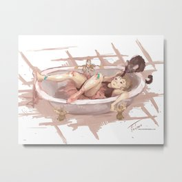 Bathtubs and Ballerinas Metal Print