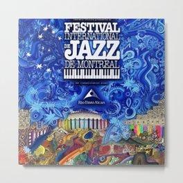 2008 Montreal Jazz Festival Advertising Gig Poster Metal Print