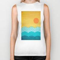 sunrise Biker Tanks featuring Sunrise by sinonelineman