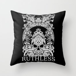 RUTHLESS SKULL Throw Pillow