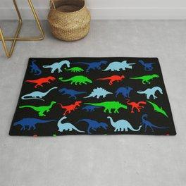 silhouettes of dinosaur pattern Rug