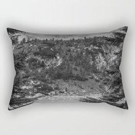 Between Pine (Black and White) Rectangular Pillow