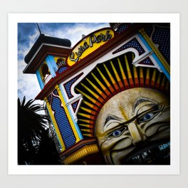 Luna Park Fun Art Print
