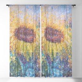 Sunflower Painting - In The Swirls Of Sunshine  Sheer Curtain