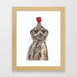 Meerkat Party Framed Art Print