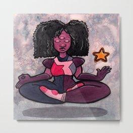 Meditating Garnet Metal Print