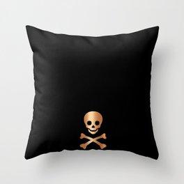 BLACK & ROSE GOLD SKULL Throw Pillow