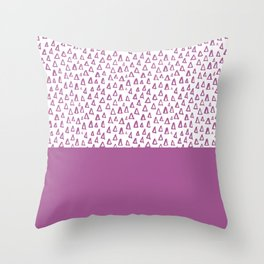 Triangles Purple Throw Pillow