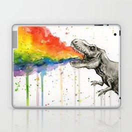 T-Rex Rainbow Puke Laptop & iPad Skin