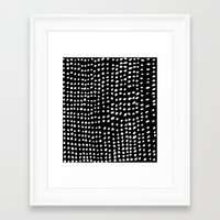 dots Framed Art Prints featuring Dots by Marie Yates