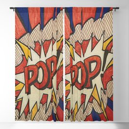 A roughly reworked Pop art Study from 1966 Blackout Curtain