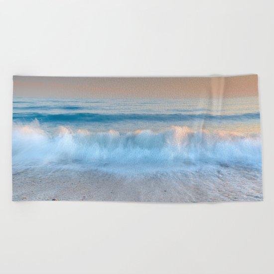 """""""Looking at the waves II"""" Sea dreams Beach Towel"""