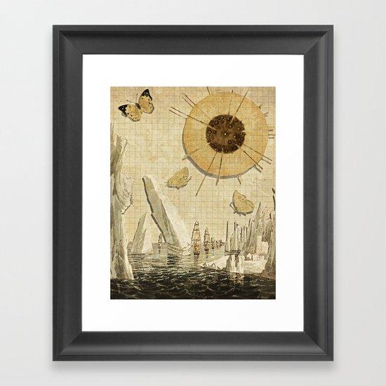 paper I :: butterflies/icebergs Framed Art Print