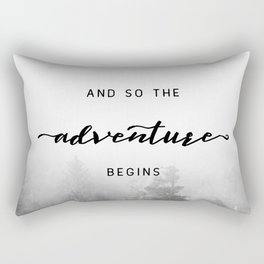 And So The Adventure Begins - New Day Rectangular Pillow