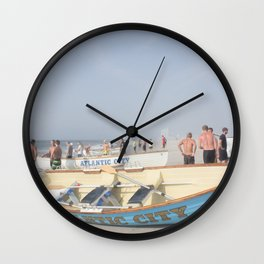 Atlantic City Lifeboats Wall Clock