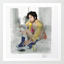 kit and his neon kimono Art Print