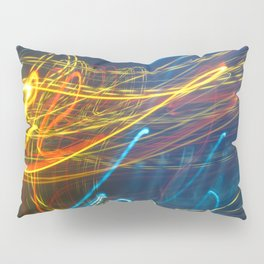 Abstract City Night - Light Painting Pillow Sham