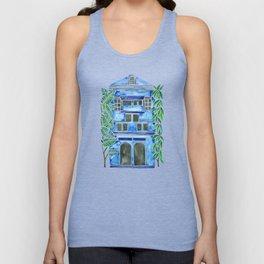 Tropical Blue House Unisex Tank Top