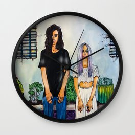 #GEMSBAND Watercolor & Copic Markers Painting, Music Lover's Art Wall Clock