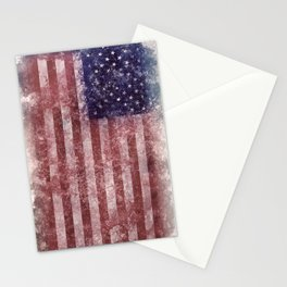 US Flag vintage worn out Stationery Cards