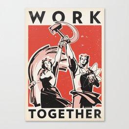 Work Together Canvas Print